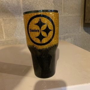 Other - Steeler Glitter Cup